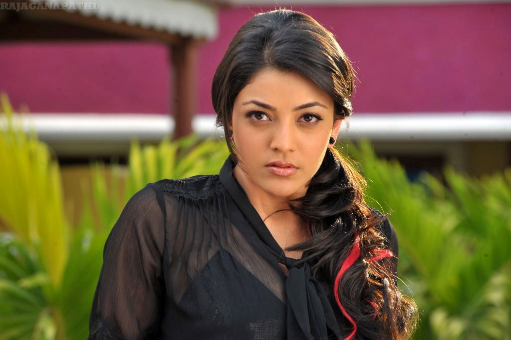 ACTRESS KAJAL AGARWAL IN BLACK TRANSPARENT DRESS LATEST